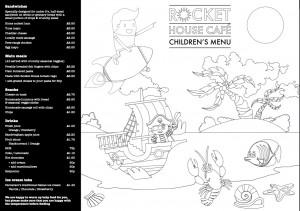 Children's lunch menu